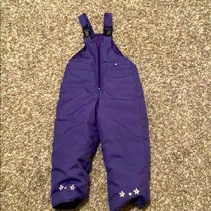 3T purple snow pants